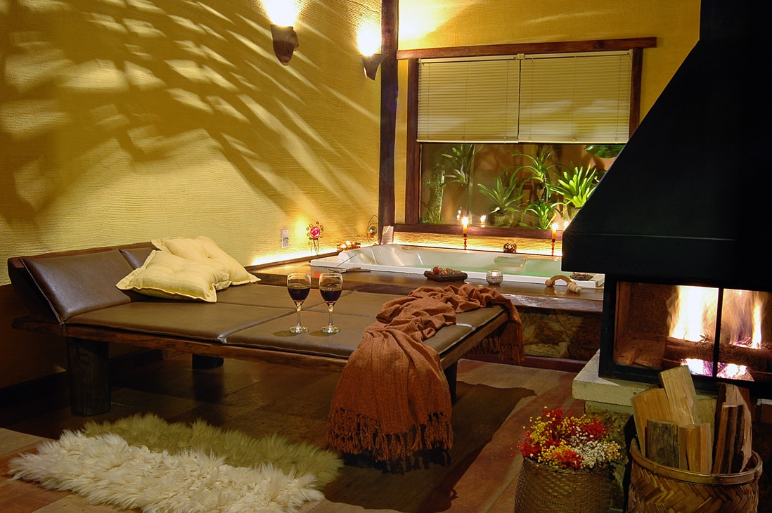 Banheira da pousad dos Amores em Visconde de Mauá