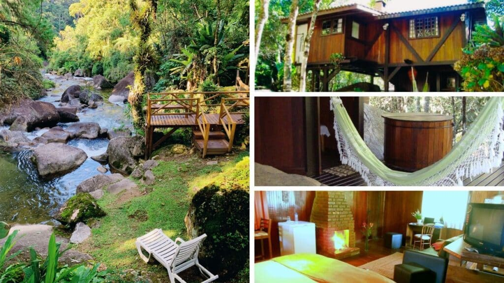 Chalet with ofurO and next to waterfalls in Visconde de Mauá.