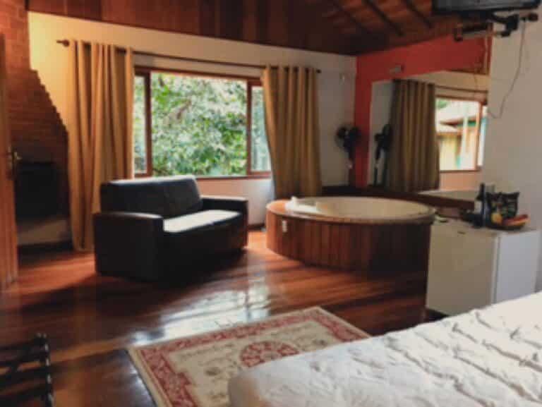 Banheira do chalé em Visconde de Mauá