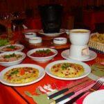 Mesa com fondue