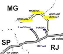 Mapa em desenho de Visconde de Mau