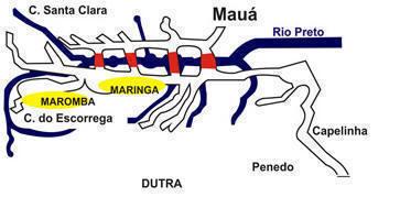 Mapa gráfico das 3 vilas de Visconde de Mauá