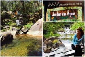 Placa da pousada e o rio principal de Visconde de Mauá