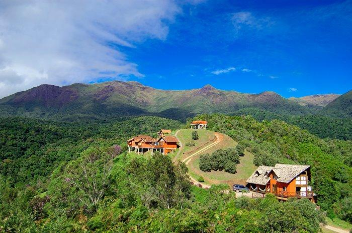 Chalés no alto da montanha de Visconde de Mauá
