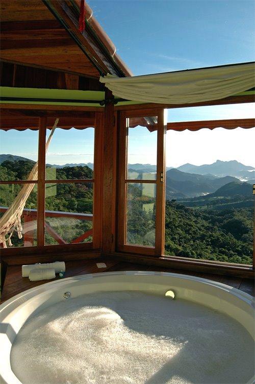 Banheira com vista panorâmica