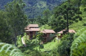 Chalés isolado no alto da colina em Visconde de Mauá