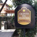 Placa do Restaurante Maresias em Visconde de Maua