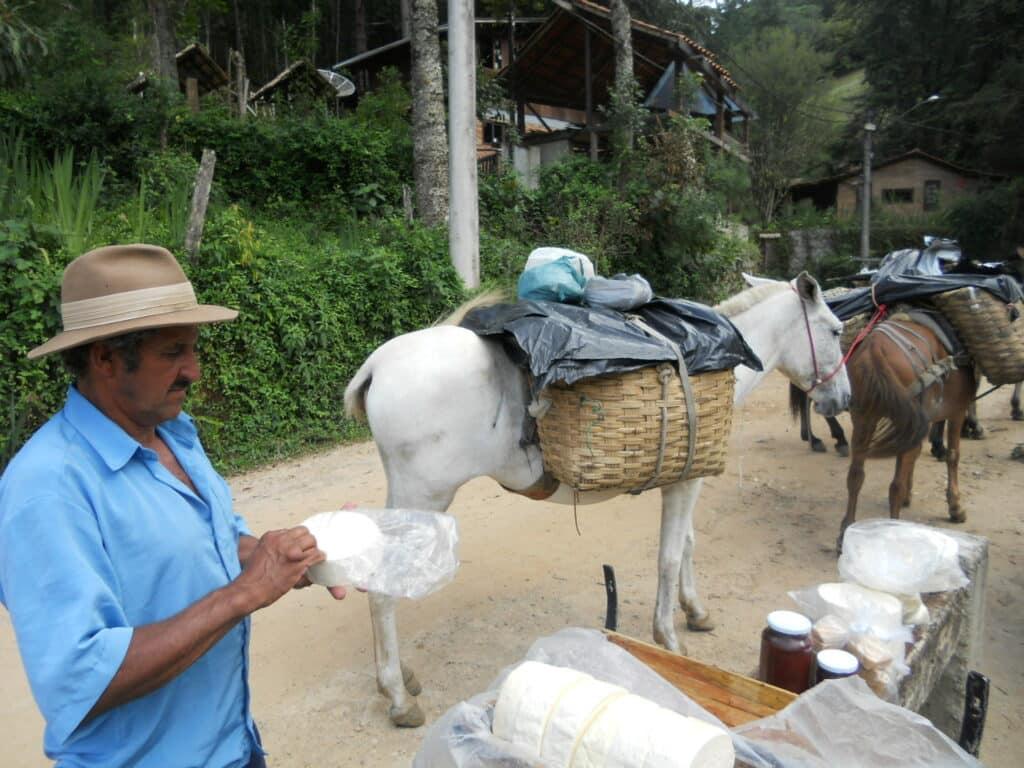 Queijos e geleia do Tropeiros de Visconde de Mauá e sua mulas