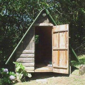 Chalé de madeira da Pousada econômica em Visconde de Mauá