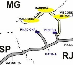 Mapas e como chegar em Visconde de Mauá