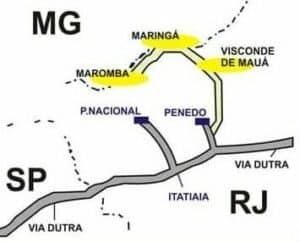 Como chegar e Mapa de Visconde de Mauá