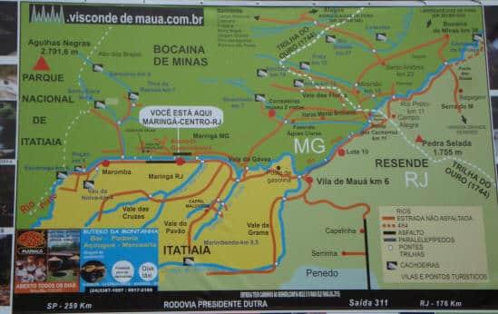 Placa geral de região de Visconde de Maua